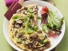 Omelett mit Nudeln und Pilzen Rezept