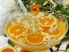 Orangen-Holunderbowle Rezept
