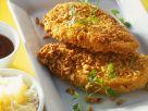 Panierte Hähnchenbrust mit Ananasreis Rezept