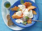 Papaya-Mozzarella-Carpaccio Rezept