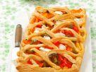 Paprika-Blätterteigkuchen Rezept