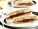 Paprika-Frischkäse-Sandwich Rezept