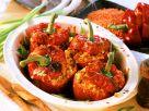 Paprika mit Mais und Linsen gefüllt Rezept
