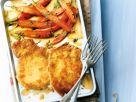 Parmesanschnitzel mit Möhrengemüse Rezept