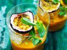 Passionsfrucht-Mango-Minz-Smoothie Rezept