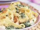 Pasta mit Bärlauchsoße und gebratenem Spargel Rezept