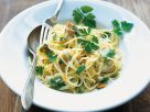 Pasta mit Fisch und Petersilie Rezept