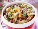 Pasta mit Gemüse und Fleisch Rezept