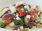 Pasta mit mediterranem Gemüse und Schafskäse Rezept