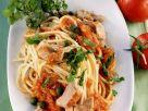 Pasta mit Thunfisch-Tomatensugo Rezept