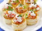 Pastetchen mit Räucherlachs und Surimi Rezept