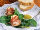 Pecorino-Feige im Speckmantel mit Feldsalat Rezept