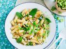 Penne mit Erbsen und Zucchini Rezept