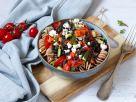 Spirelli mit Tomatensauce, Linsen und Feta Rezept