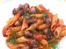 Penne rigate mit Tomatensauce und Salsiccia Rezept