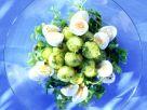 Pesto-Kartoffelsalat mit Wachteleiern Rezept