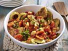 Pfannen Pasta mit Gemüse und Speck Rezept