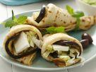Pfannkuchen mit Auberginen-Schafskäse-Füllung Rezept