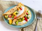 Pfannkuchen mit exotischen Früchten Rezept