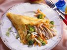 Pfannkuchen mit Hähnchen-Gemüsefüllung Rezept