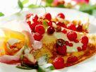 Pfannkuchen mit kandierten Blüten Rezept