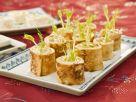 Pfannkuchenröllchen mit Lachs Rezept