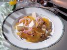 Pfeffer-Orangen und Brie mit Karamell-Vinaigrette Rezept