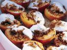 Pfirsiche vom Grill mit Frischkäse Rezept