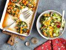 Pilze gefüllt mit buntem Gemüse Rezept