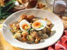 Pilzpfanne mit wachsweichen Eiern Rezept