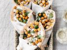 Pita-Wraps mit Huhn, Kichererbsen und Rucola Rezept