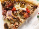 Pizza und Hackfleisch und Zwiebeln Rezept