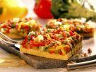 Polenta-Paprika-Pizza Rezept