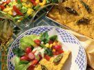 Polentaschnitten mit Salat Rezept