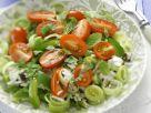 Porree-Reissalat mit Tomaten und Minze Rezept