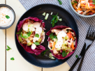 Pulled Chicken in Salat-Tacos Rezept