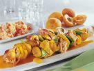 Puten-Spieße mit Speck und Aprikosen Rezept