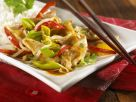 Putengeschnetzeltes mit Gemüse auf chinesische Art Rezept