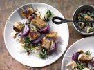 Putenspieße auf Spinat-Reis Rezept