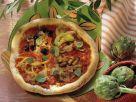 Quattro stagioni Pizza Rezept