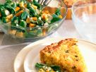 Quiche mit Feldsalat und Birnen Rezept