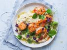 Quinoa-Risotto mit Lachs und Garnelen Rezept
