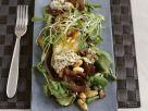 Rapunzelsalat mit Birne und Zwiebeln in Rotweinmarinade Rezept