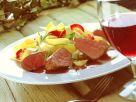 Rehfilet mit Gemüse-Bandnudeln Rezept