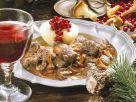 Rehgulasch mit Blaukraut und Kartoffeln Rezept