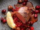 Rehrücken mit Cranberrys und Maronen Rezept