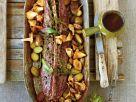 Rehrückenbraten mit Pilzen und kleinen Kartoffeln Rezept