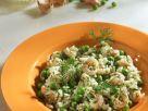Reis-Erbsensalat mit Shrimps Rezept