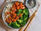 Reis mit mariniertem Tofu Rezept