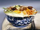 Reis mit Rind, Ei und Gemüse Rezept